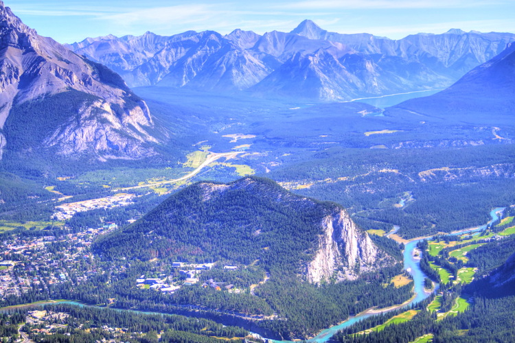 Vistas desde Sulphur Mountain, Banff National Park, Alberta, Canada