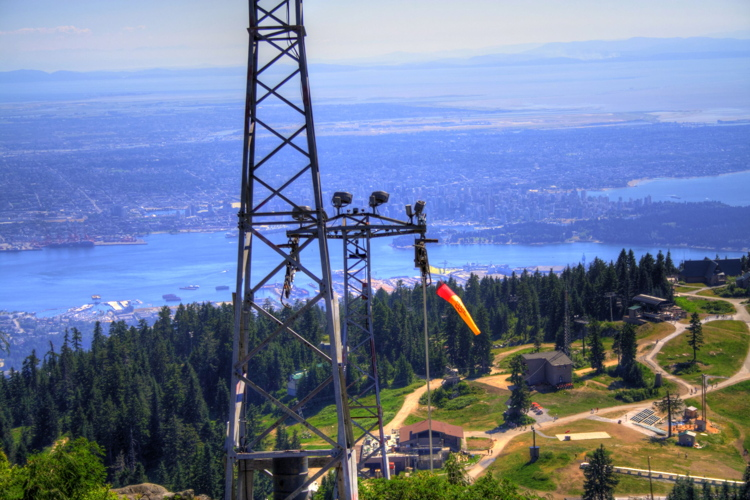 Vistas desde Grouse Mountain, Vancouver, Canada, British Columbia