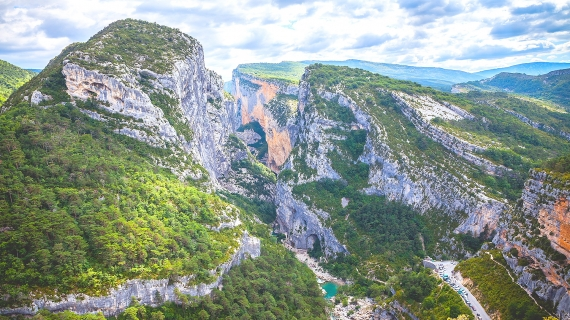 Vista de Gorges de Verdon desde el Point Sublime