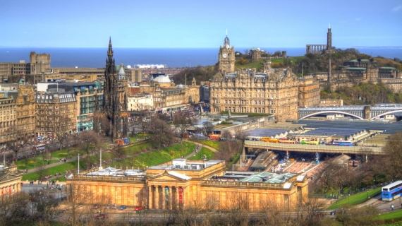 Edimburgo, Edinburgh, vistas desde castillo