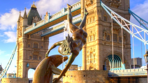 Tower Bridge, Londres, momumento, Delfin, UK